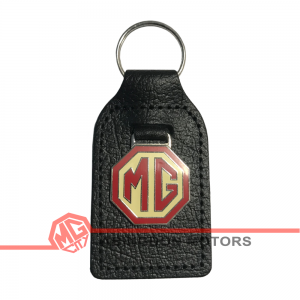 Key Fob - MG - Cream &Amp; Brown
