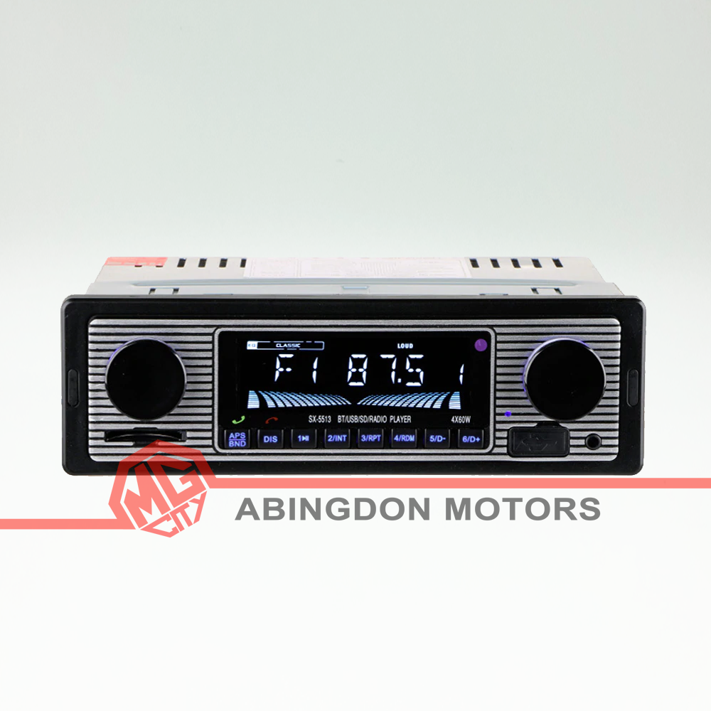 Retro look car stereo