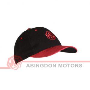 Suede Peak Cap - Black / Red