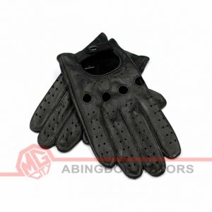 Leather (Lambskin) Driving Gloves - Black