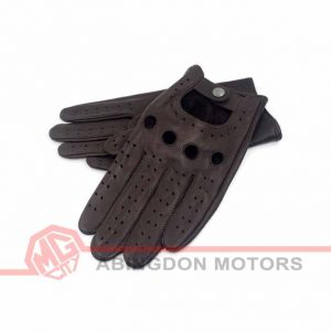 Leather (Lambskin) Driving Gloves - Brown