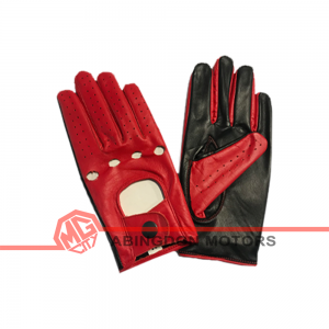 Lady's Leather Driving Gloves - Red
