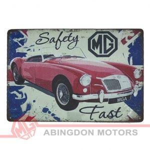 Tin Plate Sign - MGA*