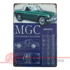 Tin Plate Sign - MGC