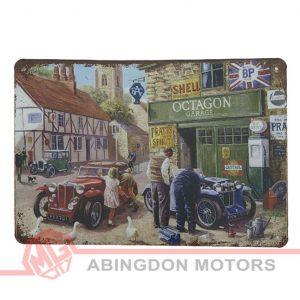 "Tin Plate Sign - ""Octagon Garage"" (Version 1)"