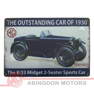 Tin Plate Sign - M Type Midget