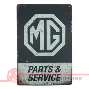 Tin Plate Sign - MG Parts & Service