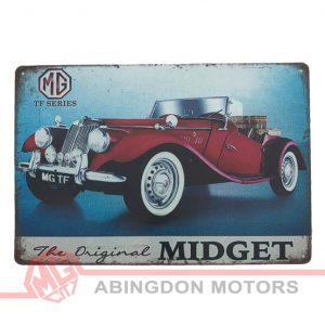 Tin Plate Sign - MG TF