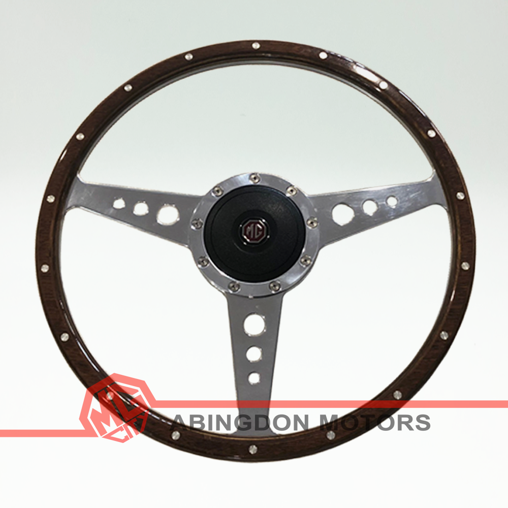 15″ Wood Rim Steering Wheel – Classic Look