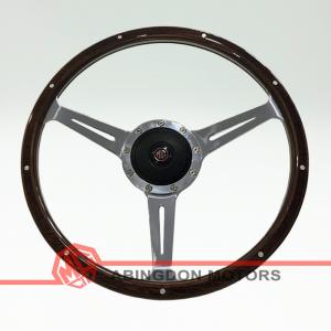 "14 inch Wood Rim Steering Wheel - 2"" Dished"